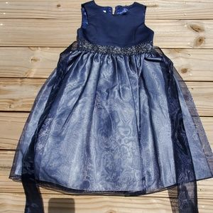 Navy Blue Girls Special Occasion Dress